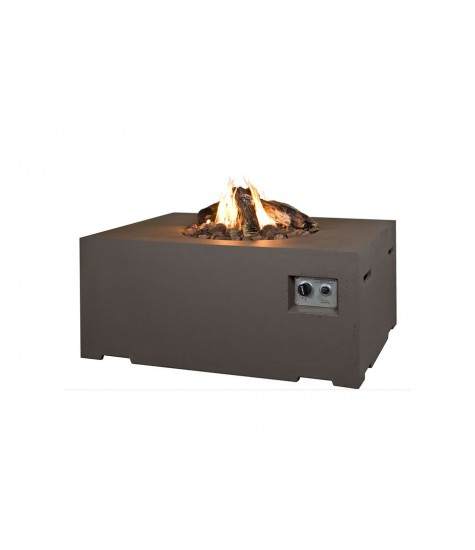 Gas Fire Pit - Rectangle - Grey