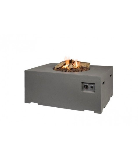 Gas Fire Pit - Rectangle - Beige