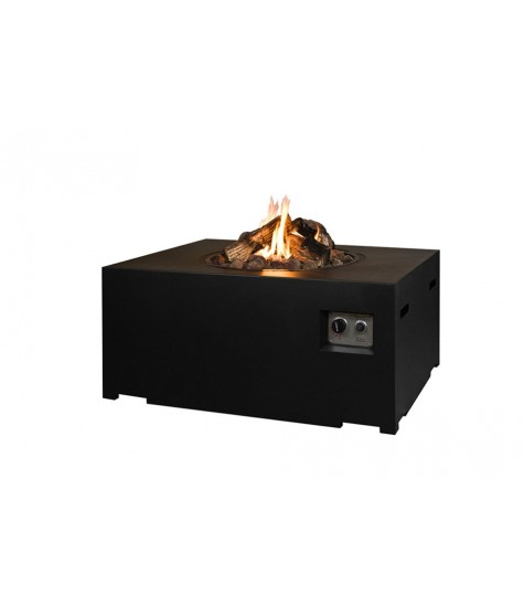 Gas Fire Pit - Rectangle - Black