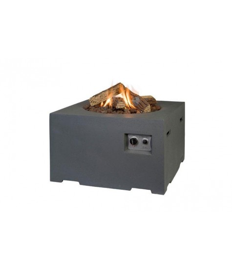 Gas Fire Pit - Square - Grey