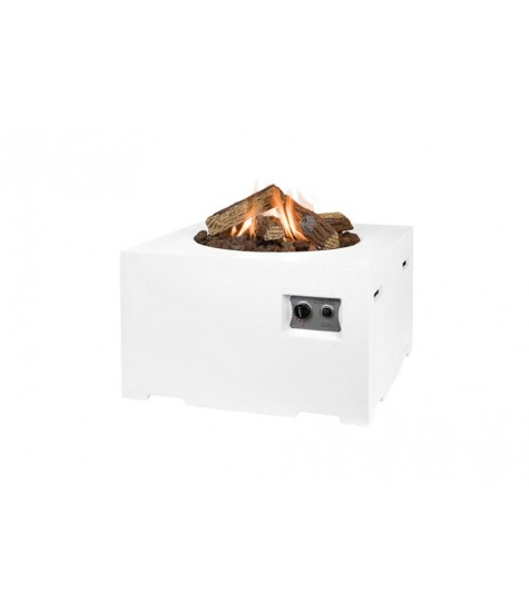 Gas Fire Pit - Square - White