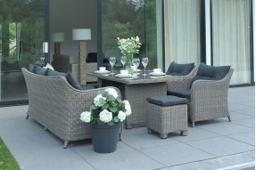 Summer Lounge/Dining Set - Cappuccino