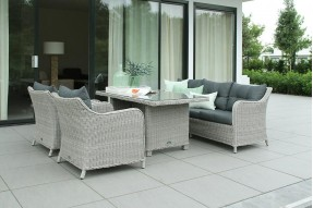 Summer Lounge/Dining Set - Greywash