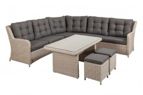 Allure Lounge/Dining Set - White Grey