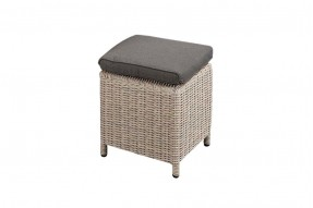 Allure Stool - White Grey