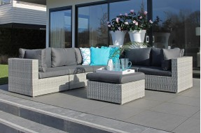 Alicante XL Lounge Set - White Grey