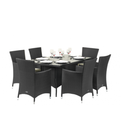 Capri 6 Seater Rectangular Carver Set