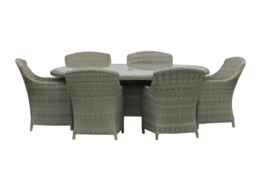 Valencia 6 Seater Oval Set