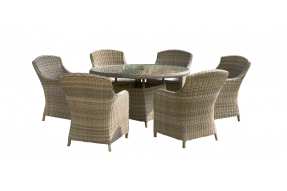 Valencia 6 Seater Round Dining Set