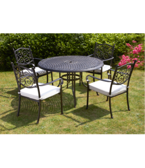 Amalfi 4 Seater Round Table Set