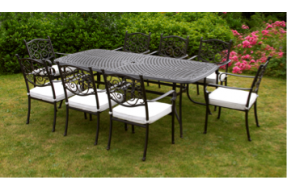 Amalfi 8 Seater Rectangular Table Set