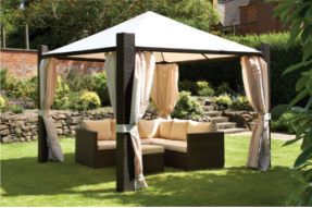 Weave Gazebo - Mocha Brown