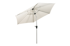 Ivory 2.5m Stainless Steel Parasol