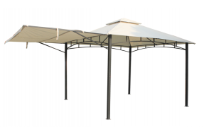 Marbella Heavy Duty Steel Gazebo with Awning