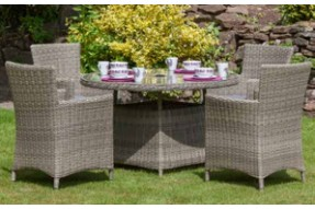 Valencia 4 Seater Round Dining Set