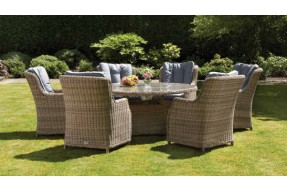 Valencia 6 Seater Round Highback Comfort Dining Set