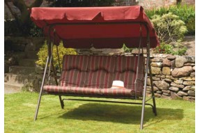 Brittany Padded 3 Seater Swing Seat with Canopy