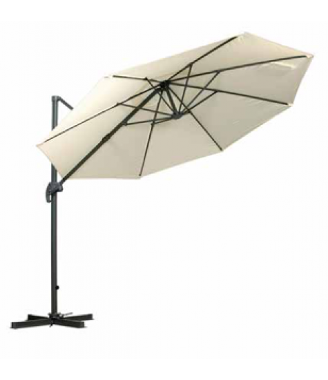 3m Deluxe Pedal Operated Rotational Cantilever Parasol