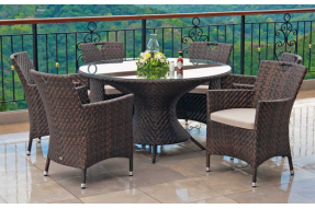 Ocean Collection 6 Seater Round Dining Set