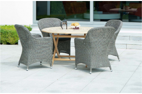 Mixed Materials Collection 4 Seater Dining Set