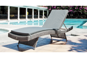 Monte Carlo Stacking Sunbed with Cushion and Side Table