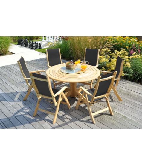 Roble Collection 6 Seater Sling Dining Set
