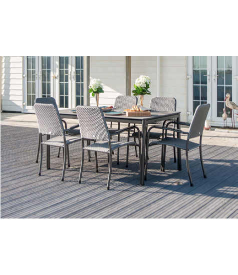 Portofino 8 Seater Rectangular Stone Dining Set
