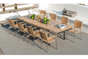 Cologne Collection 8 Seater Dining Set
