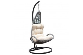 Ocean Rattan Swing Chair - Grey
