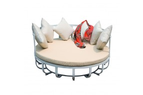 Ocean White Aluminium Day Bed