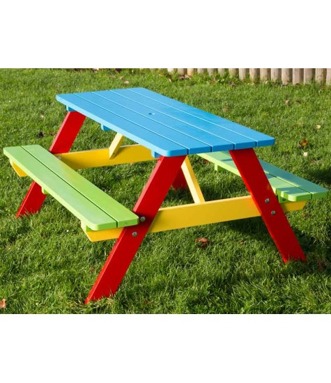 Children's Painted A Frame Picnic Table - 6 Seater