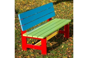 Children's Painted Bench