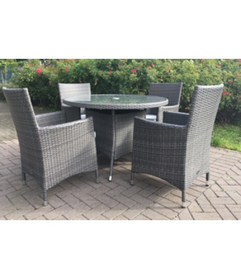 Buckingham 4 Seater Round Dining Set