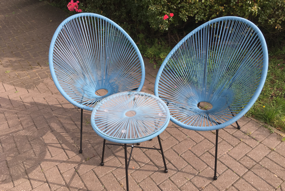 Egg Bistro Set - Blue