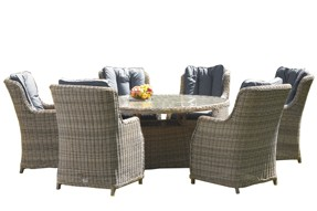 Valencia 6 Seater Oval Dining Set